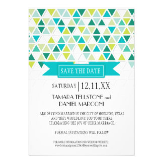 Mod Style Triangle Pattern Triangular Geometric Custom Invitation
