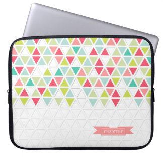 Mod Style Triangle Pattern Triangular Geometric Laptop Sleeve