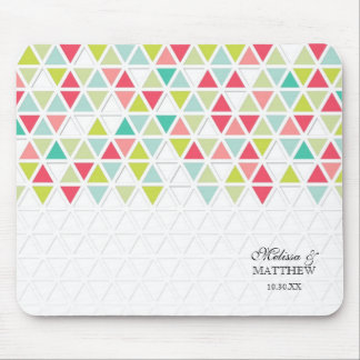 Mod Style Triangle Pattern Triangular Geometric Mouse Pad