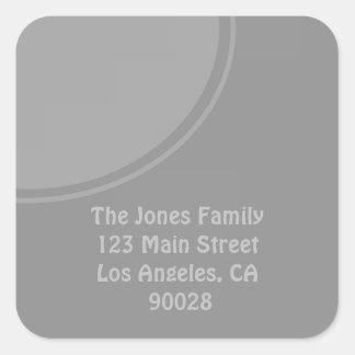 Mod stylish grey design square sticker