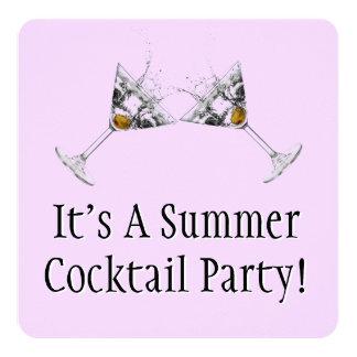 Mod Summer Cocktail Party Custom Invitations