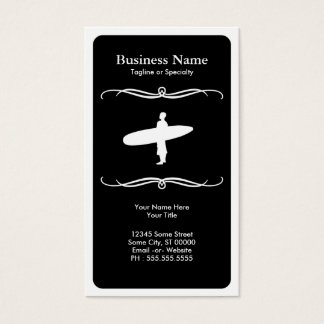 mod surfing business card