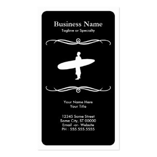 mod surfing business card template