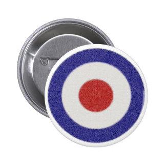 Mod Target Distressed 2 Inch Round Button