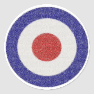Mod Target Distressed Classic Round Sticker