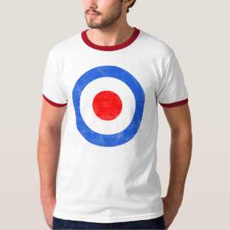 Mod Target Distressed T Shirts