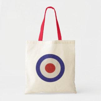 Mod Target Distressed Tote Bag