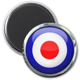 Mod Target Glass Ball Magnet