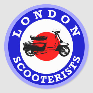 Mod Target - London Scooterists Classic Round Sticker