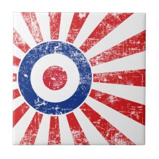 Mod Target Mods Sunburst Target Roundel Ceramic Tile