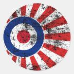 Mod Target Mods Sunburst Target Roundel Classic Round Sticker