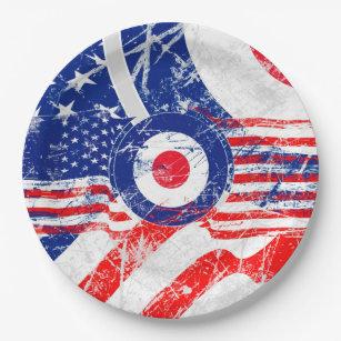 Mod Target Mods US Target Grunge Roundel Paper Plate  sc 1 st  Zazzle & Target Plates | Zazzle