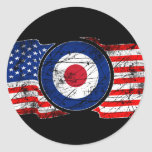 Mod Target Mods USA Target Scooter Classic Round Sticker