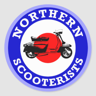 Mod Target - Northern Scooterists Classic Round Sticker