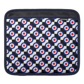 Mod Target Pattern Polka Dots Fashion UK Vintage Sleeve For iPads