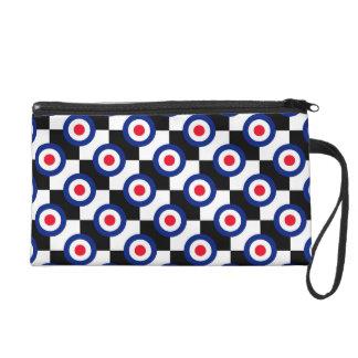 Mod Target Pattern Polka Dots Fashion UK Vintage Wristlet Purse