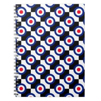 Mod Target Pattern Polka Dots Fashion Vintage Notebook