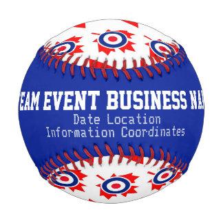 Mod Target Roundel Maple Leaf Pattern Personalized Baseball