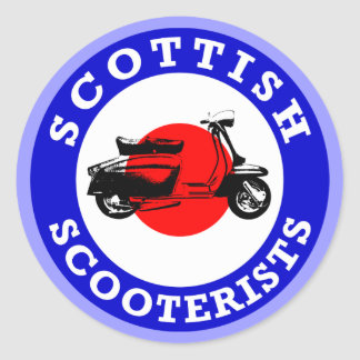 Mod Target - Scottish Scooterists Classic Round Sticker