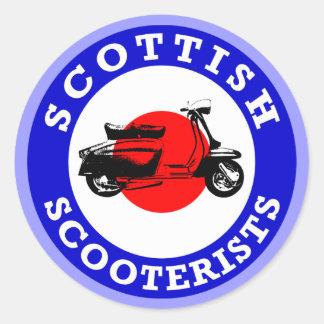 Mod Target - Scottish Scooterists Classic Round Sticker