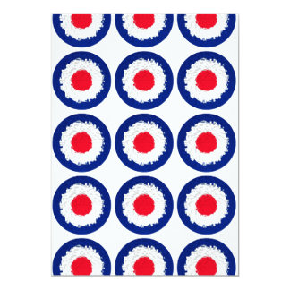 Mod Target with effect applied 13 Cm X 18 Cm Invitation Card