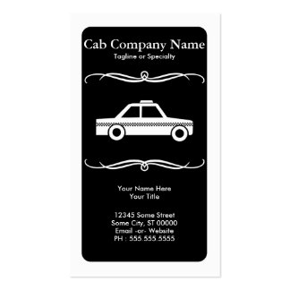 mod taxi cab business card