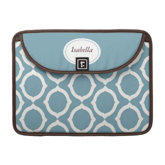 Mod Teal Circles Rickshaw Sleeve for MacBook Pro