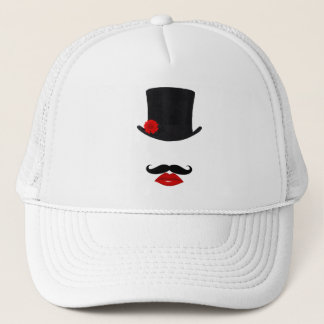 Mod Top Hat Lady With Mustache