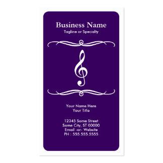 mod treble clef business card
