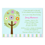 Mod Tree Baby Bird Baby Shower Invitations