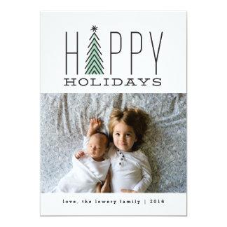 Mod Tree Holiday Photo Card