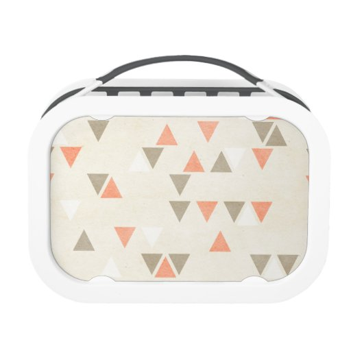 Mod Triangles Coral amp Beige Gray Abstract Arrows Lunch