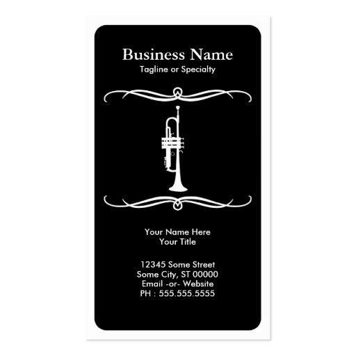 mod trumpet business card template