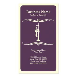 Mod trumpet place card / business card templates