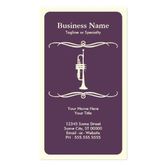 Mod trumpet place card / business card templates