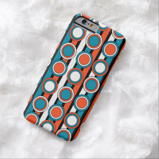 mod Turquoise orange black circle stripes pattern Barely There iPhone 6 Case