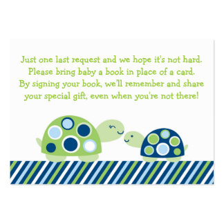 Mod Turtle Baby Shower Book Request Cards