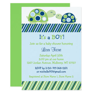 Mod Turtle Baby Shower Card
