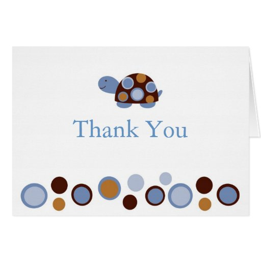 Mod Turtle Thank You Note Cards