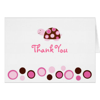 Mod Turtle Thank You Note Cards Pink