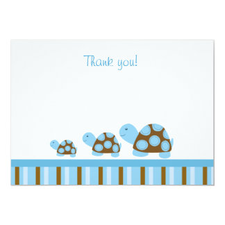 Mod Turtles (Blue) Flat Thank You notes Personalized Invite