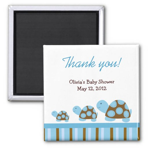 Mod Turtles Tortoise Baby Shower Favor Magnet