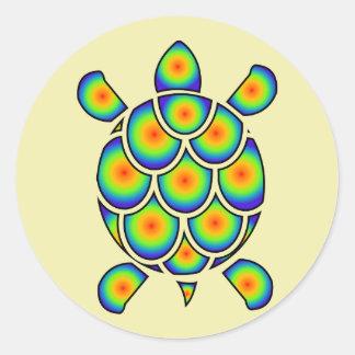 Mod Tye Dye Sea Turtle Classic Round Sticker