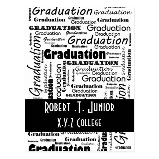 Mod typography black white graduation invitation postcard zazzle mod typography black white graduation invitation postcard filmwisefo Choice Image