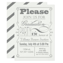 Mod Typography Graduation party Invitation