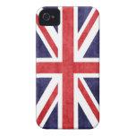 MOD Union Jack del vintage Case-Mate iPhone 4 Protectores