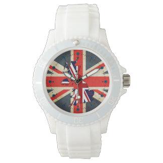 Mod United Kingdom Map Union Jack Sport Watch