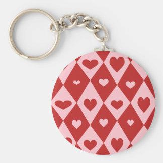Mod Valentine Hearts Keychain