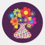 MOD Vased floral Etiquetas Redondas