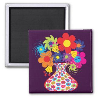 Mod Vased Floral Magnet